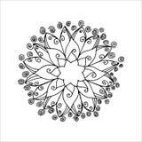 Mandala de la flor Foto de archivo libre de regalías