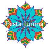 Mandala de la flor Imagen de archivo libre de regalías