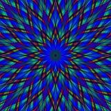 Mandala de la flor del vitral stock de ilustración