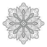 Mandala de la flor Elementos decorativos de la vendimia stock de ilustración