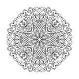 Mandala de la flor Ornamento decorativo de la vendimia Modelo oriental A Fotografía de archivo