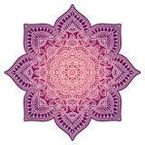 Mandala de la pendiente Ornamento étnico del círculo Elemento redondo indio tradicional exhausto de la mano Alheña espiritual de  foto de archivo libre de regalías