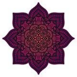 Mandala de la pendiente Ornamento étnico del círculo Elemento redondo indio tradicional exhausto de la mano Alheña espiritual de  fotografía de archivo libre de regalías