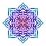 Mandala de la pendiente Ornamento étnico del círculo Elemento redondo indio tradicional exhausto de la mano Alheña espiritual de  fotografía de archivo