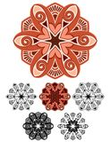 Mandala de la terracota Imagen de archivo