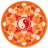 Mandala de la yoga Imágenes de archivo libres de regalías