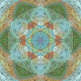 Mandala de Lotus com Paisley ilustração royalty free