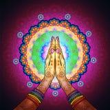 Mandala de Namaste Photographie stock