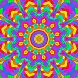 Mandala de neón de la bombilla stock de ilustración