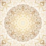 Mandala de oro Imagen de archivo libre de regalías