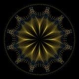 Mandala de oro de la estrella del alambre Foto de archivo libre de regalías