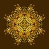 Mandala de oro floral étnica Foto de archivo libre de regalías