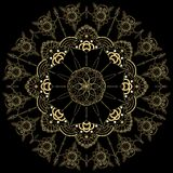 Mandala de oro de la flor Elementos decorativos de la vendimia Modelo oriental, ejemplo Islam, árabe, indio, marroquí, España, stock de ilustración