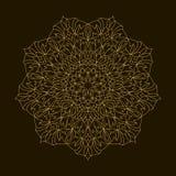 Mandala de oro Ornamento de la circular de la plantilla Fotografía de archivo libre de regalías