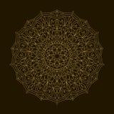 Mandala de oro Ornamento de la circular de la plantilla Imagen de archivo libre de regalías