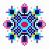 Mandala de pequeños pixeles en un fondo blanco ilustración del vector
