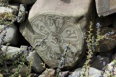 Mandala de piedra budista Imagenes de archivo