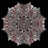Mandala de plata Foto de archivo libre de regalías