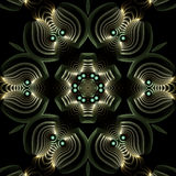 Mandala de plata grabada y bejeweled Imagenes de archivo