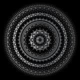 Mandala de prata Foto de Stock