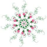 Mandala de ramas y flores de rosas libre illustration