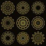 Mandala de scintillement d'or Photo stock
