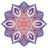 Mandala de vecteur avec l'ornement de fleurs Illustration de Vecteur