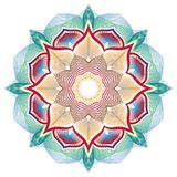 Mandala de vecteur avec l'ornement de fleurs Illustration Libre de Droits