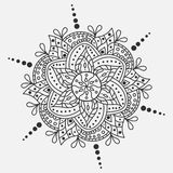 Mandala de vecteur Ornement rond Symbole indien traditionnel Calibre graphique pour votre conception Photo stock