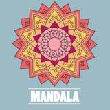 Mandala de vintage de vecteur avec le texte Images stock