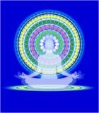 Mandala de yoga illustration de vecteur