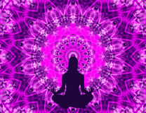 Mandala de yoga Photographie stock libre de droits