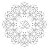 Mandala de Zentangle, page pour le livre de coloration adulte, élément de conception de vecteur Photo libre de droits