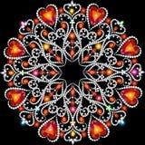 Mandala decoration, design element. Stock Images