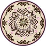 Mandala decorativa clássica da flor Fotografia de Stock Royalty Free