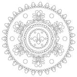Mandala decorativa d'annata di coloritura royalty illustrazione gratis