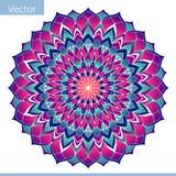 Mandala decorativa del color Adorno oriental ilustración del vector