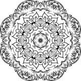 Mandala decorativa del vector Imagenes de archivo