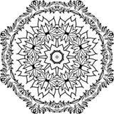 Mandala decorativa do vetor ilustração royalty free
