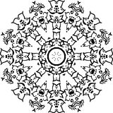 Mandala decorativa do vetor ilustração stock
