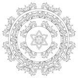 Mandala decorativa floreale di coloritura illustrazione vettoriale