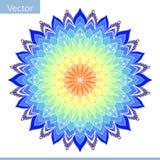 Mandala decorativa nas cores do arco-íris ilustração do vetor