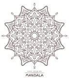 Mandala with decorative elements for coloring on background Royalty Free Stock Image