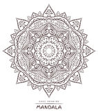 Mandala with decorative elements for coloring on background Stock Images