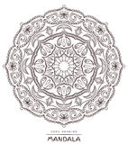 Mandala with decorative elements for coloring on white Royalty Free Stock Photo
