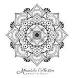 Mandala decorative ornament design. For coloring page, greeting card, invitation, tattoo, yoga and spa symbol. Vector illustration Royalty Free Stock Image