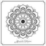 Mandala decorative ornament design. For coloring page, greeting card, invitation, tattoo, yoga and spa symbol. Vector illustration Stock Photos