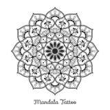 Mandala decorative ornament design. For coloring page, greeting card, invitation, tattoo, yoga and spa symbol. Vector illustration Royalty Free Stock Photos