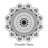 Mandala decorative ornament design. For coloring page, greeting card, invitation, tattoo, yoga and spa symbol. Vector illustration Royalty Free Stock Photo