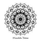 Mandala decorative ornament design. For coloring page, greeting card, invitation, tattoo, yoga and spa symbol. Vector illustration Stock Images